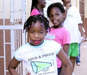 Young girl at the DeafKidz Jamaica sports day
